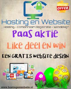 PAAS AKTIE: Win een GRATIS website design